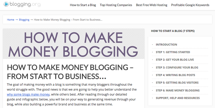 blogging money guide